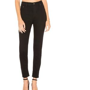Free People Black 5 Pocket Skinny Jeans